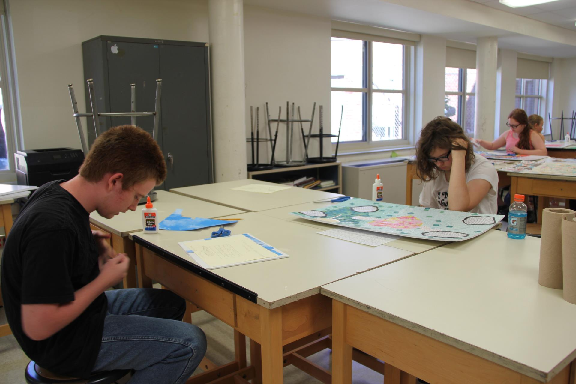 students designing projects