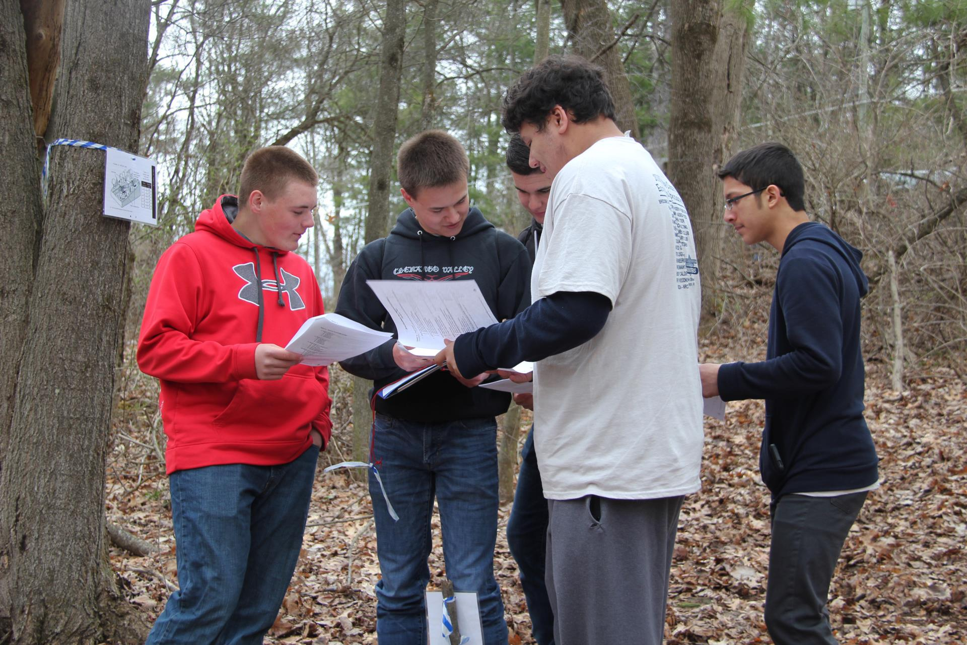 students participating in envirothon