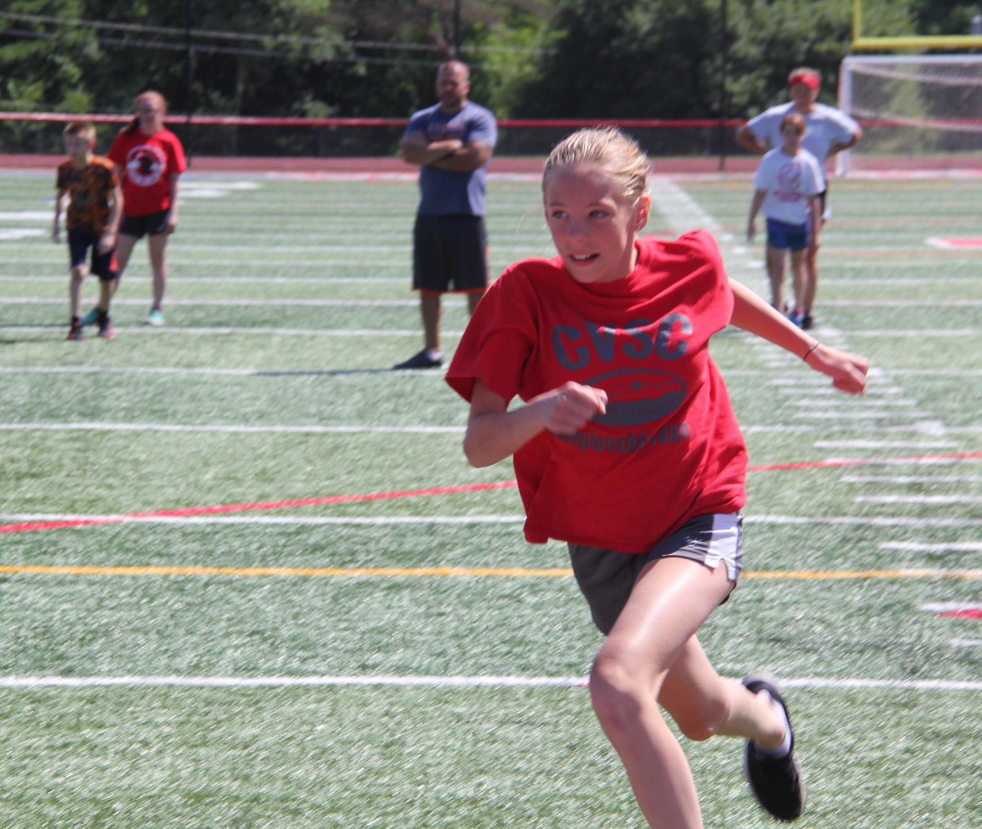 student sprinting