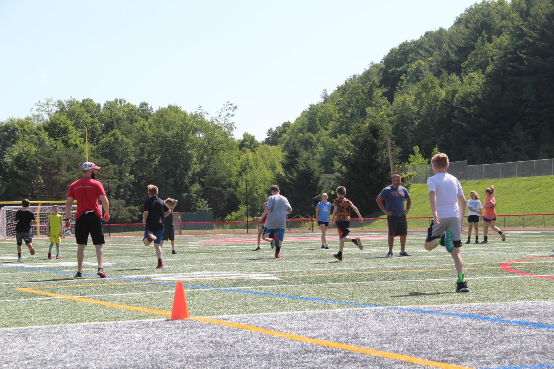 students running at warrior academy