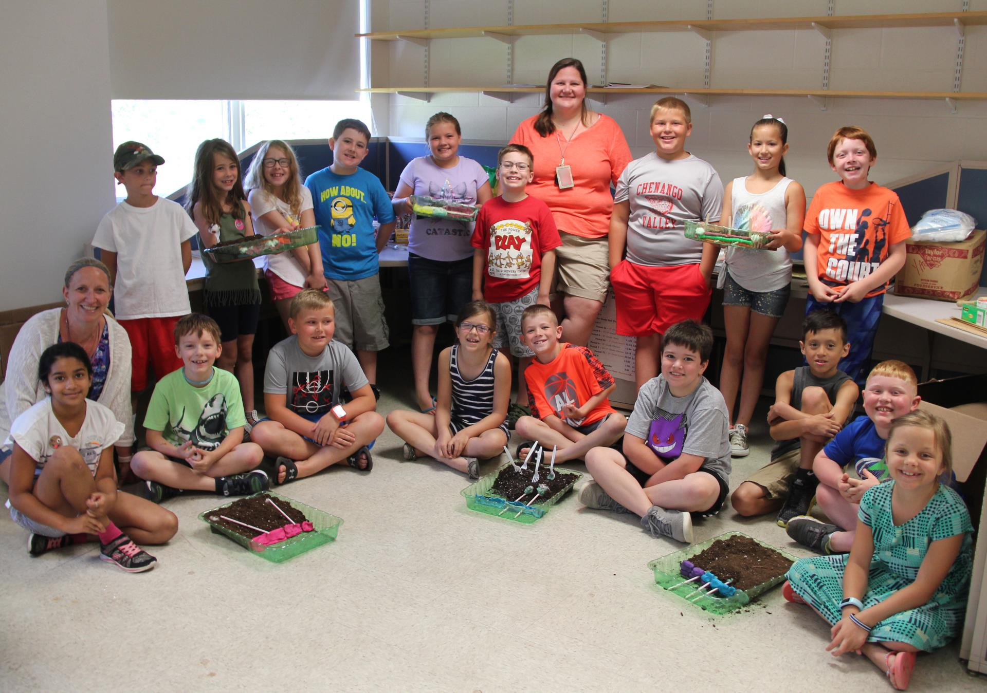 students with erosion projects