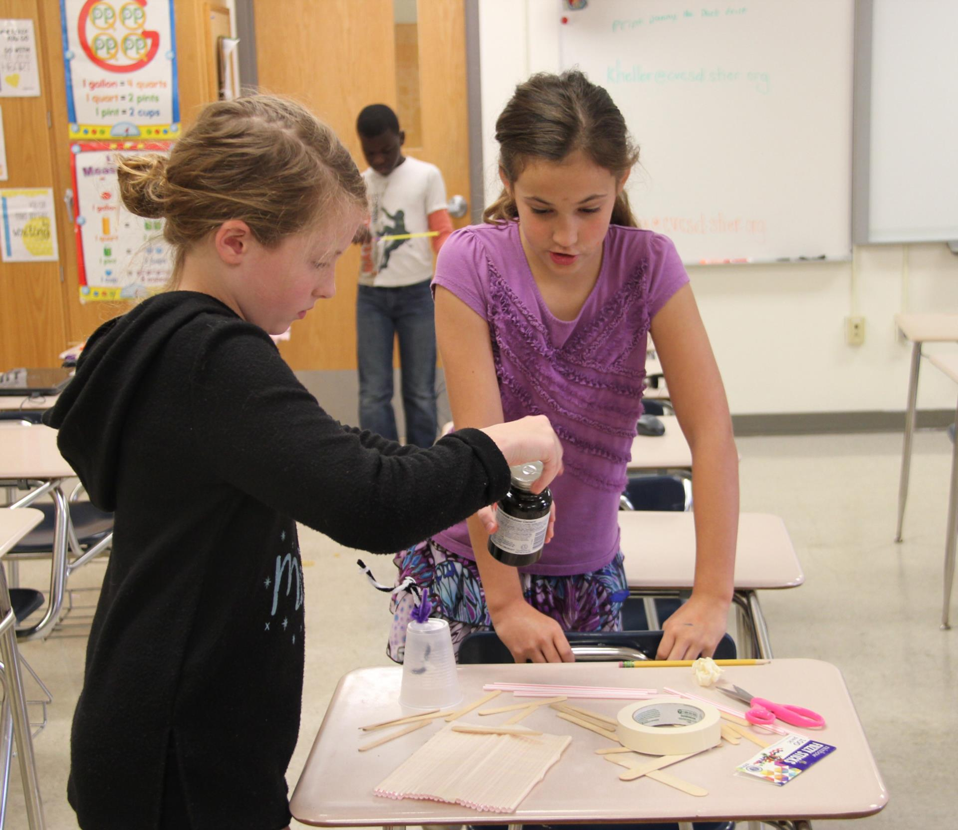 students working on raft project