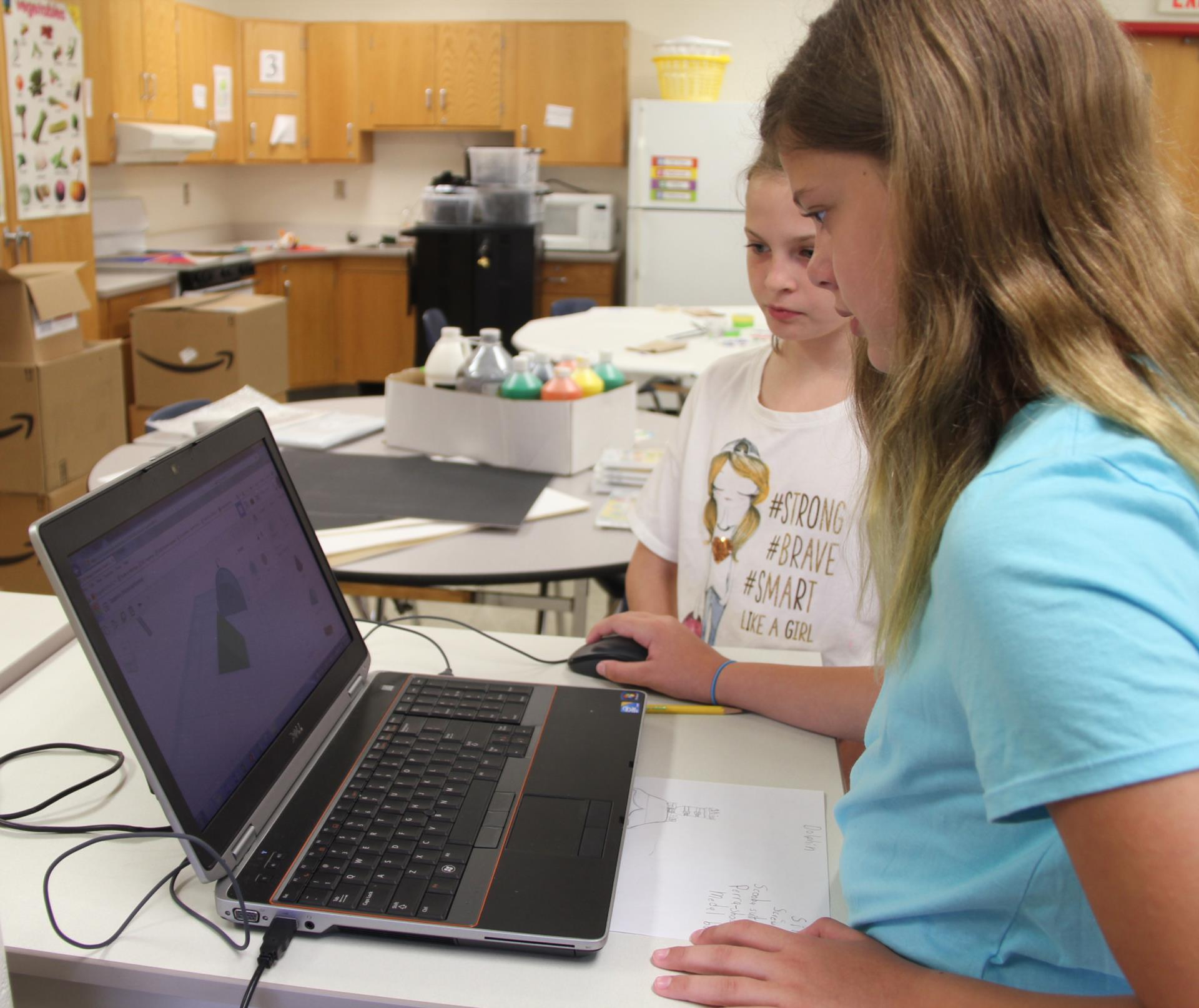 students testing erosion project