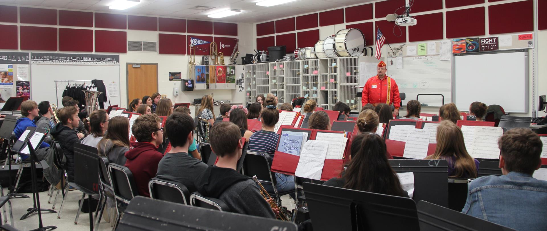 veteran speaking with band class