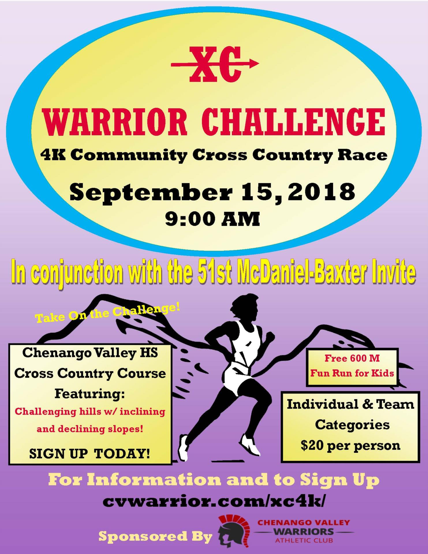 cross country warrior challenge poster