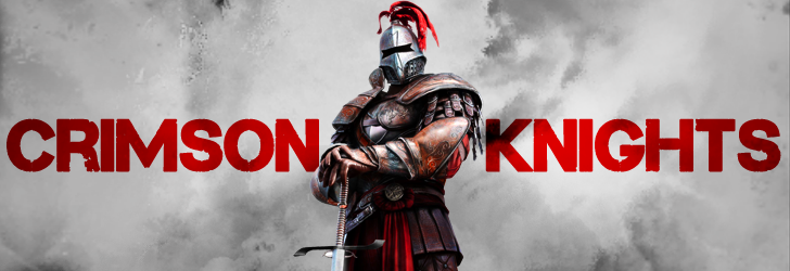 Crimson Knights gladiator mascot