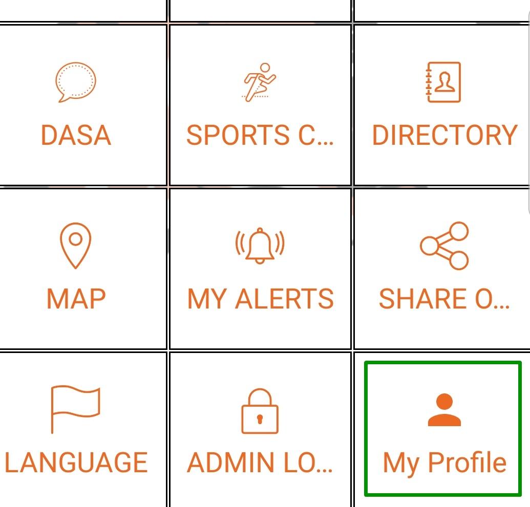 My Profile button