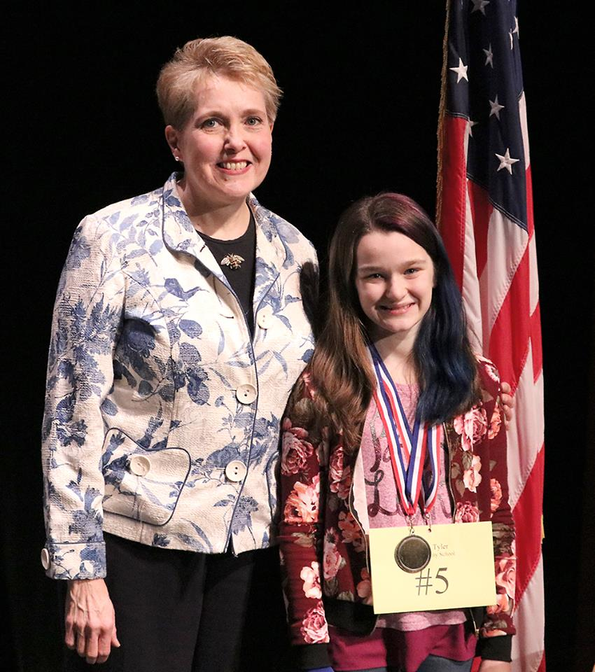 NMS student competes in regional spelling bee