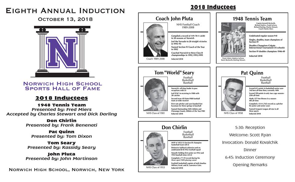 2018 Sports Hall of Fame Induction Program