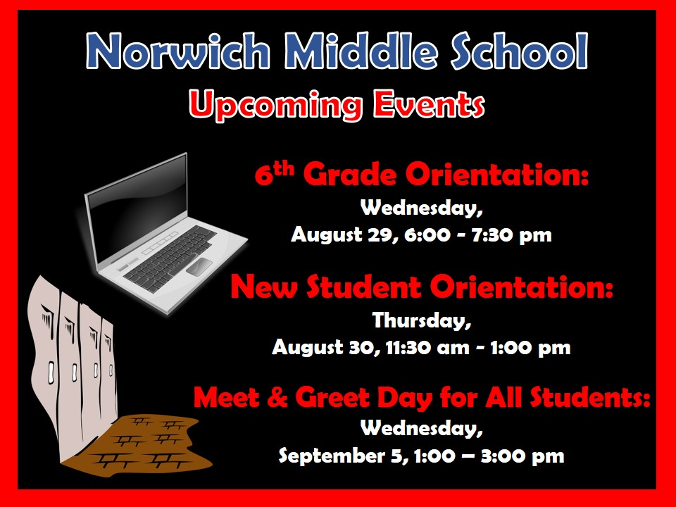 Updated back to school events