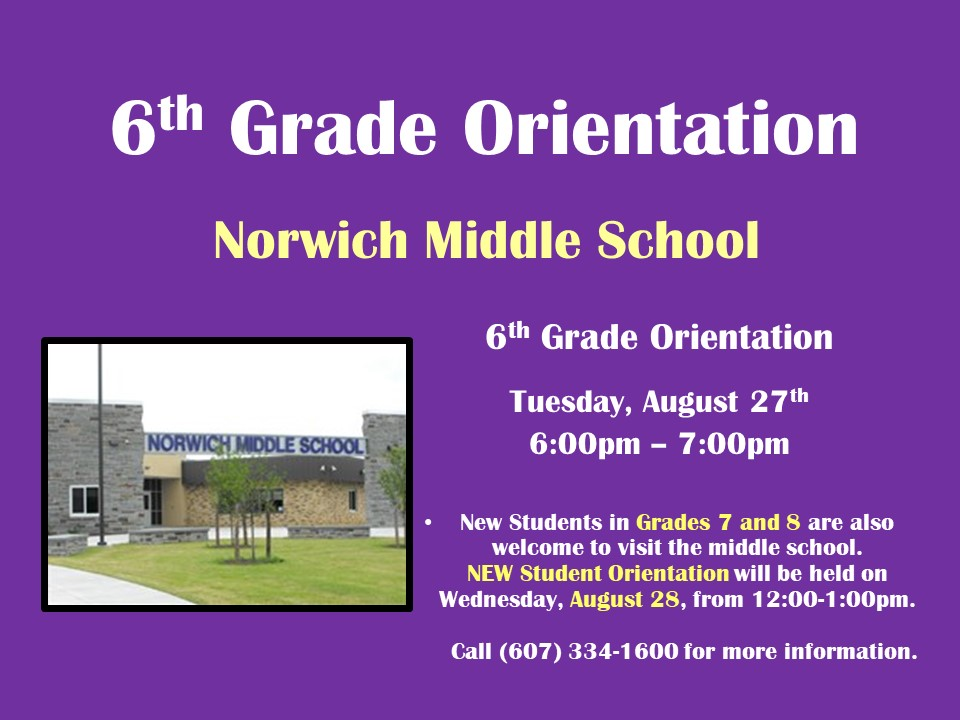 NMS Orientation Dates