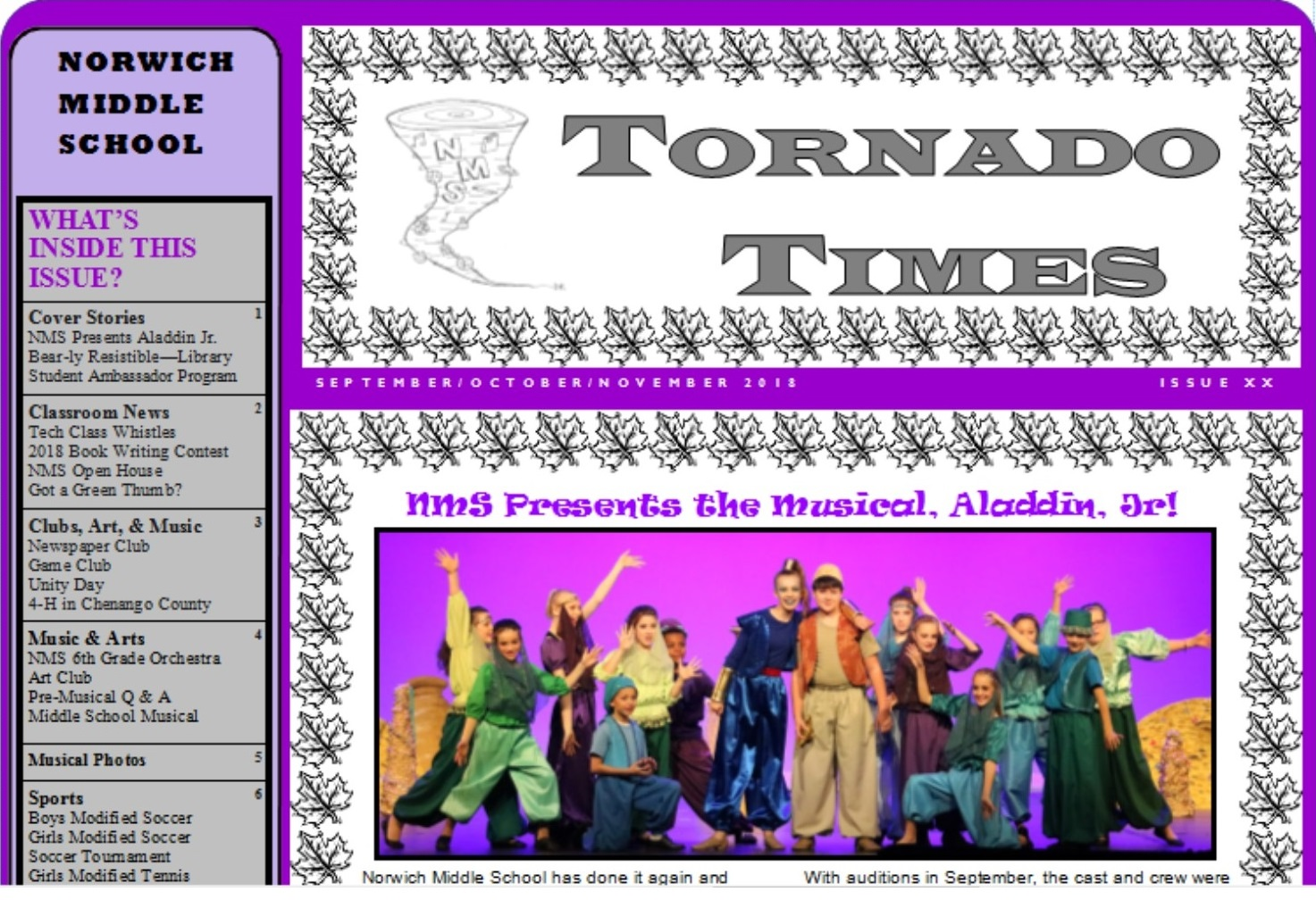 Tornado Times Newspaper Cover