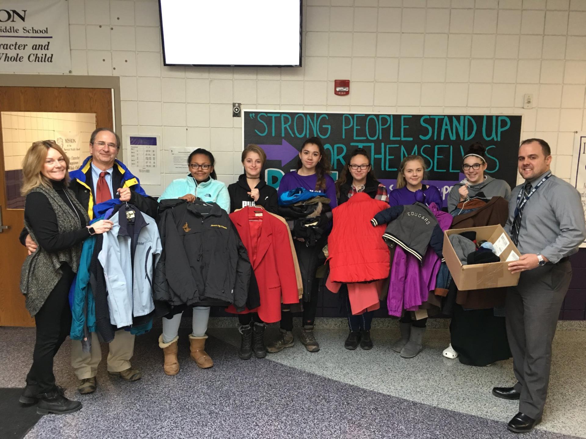 Student Ambassadors Hold Coat Drive
