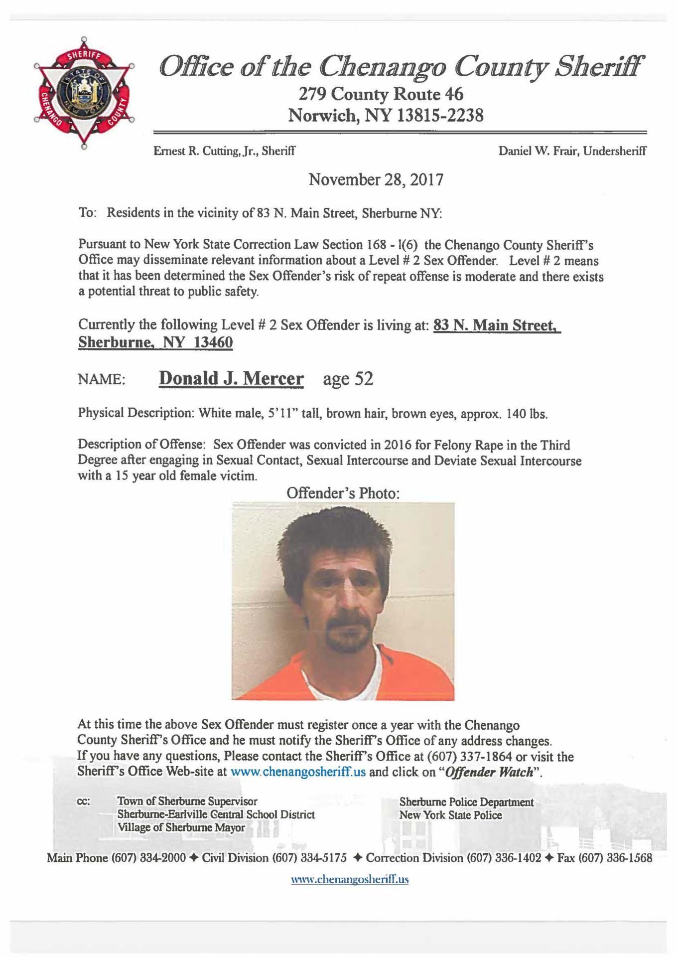 Mercer Sex Offender