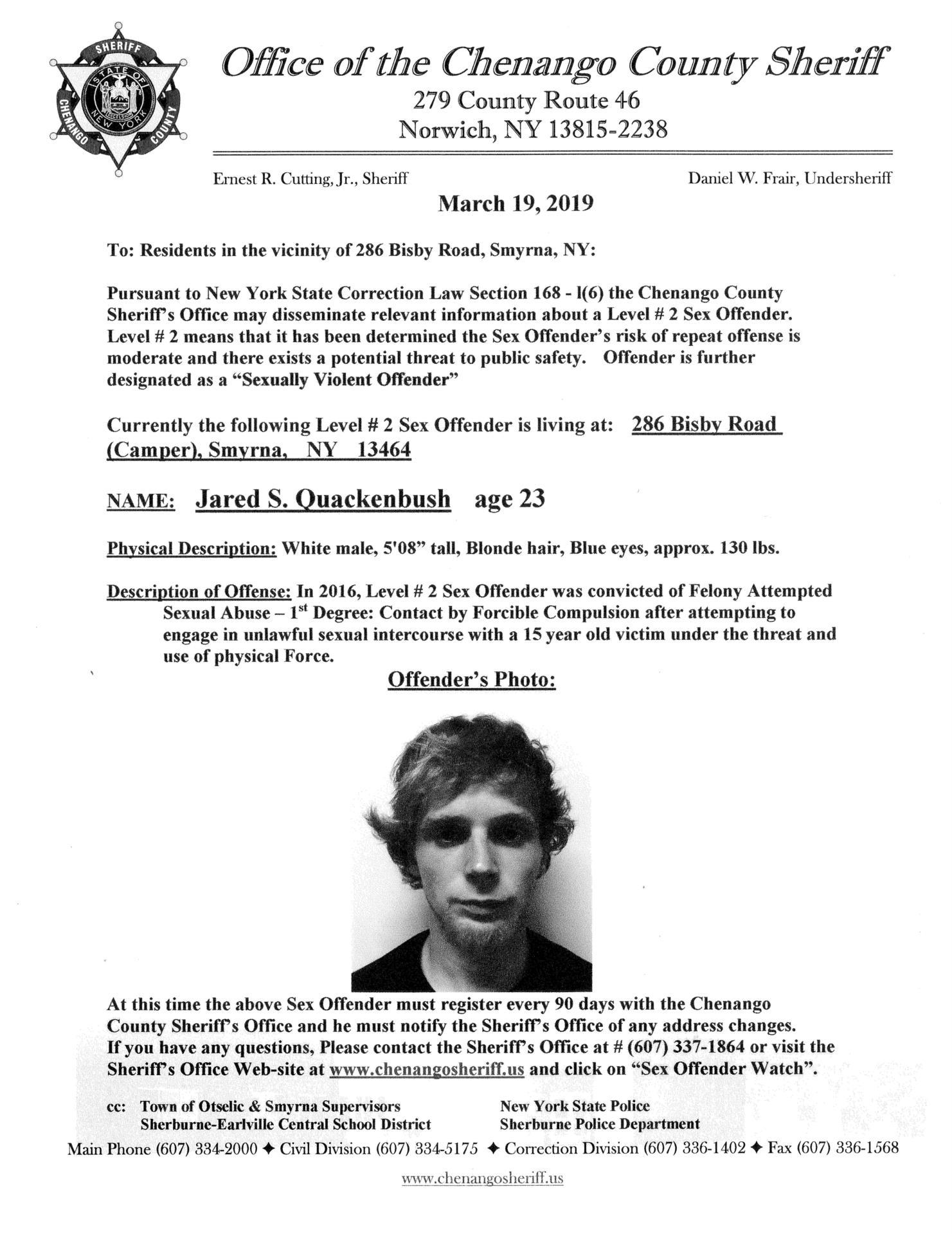Sex Offender Quackenbush