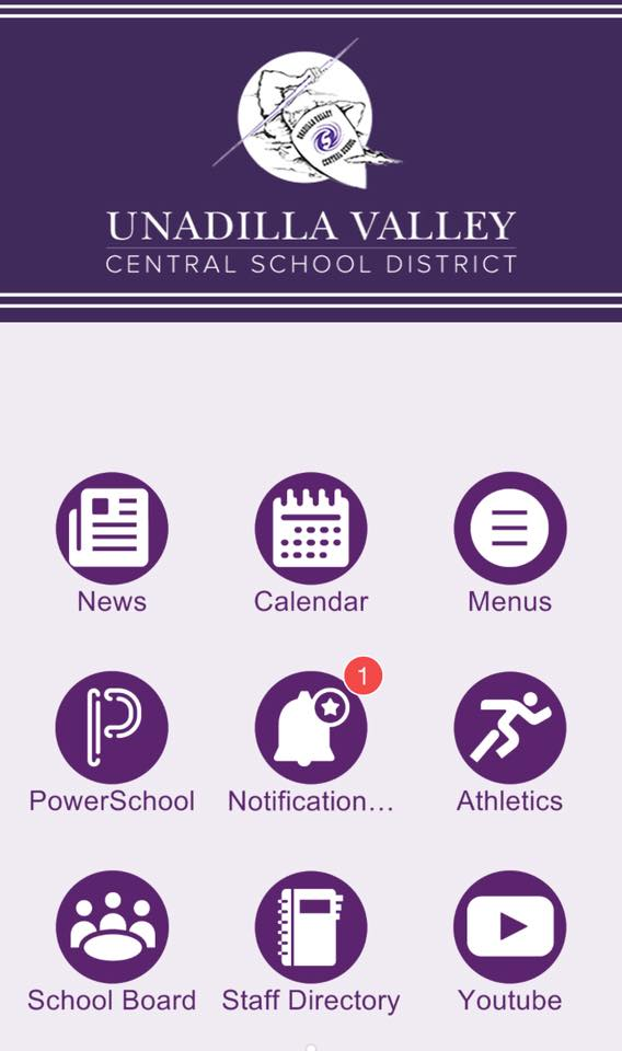A screenshot of UV's new mobile app is seen
