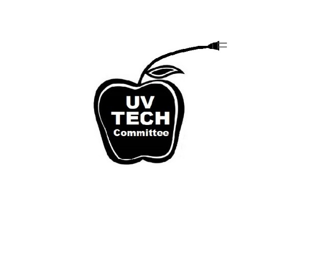 The UV tech committee logo is an apple