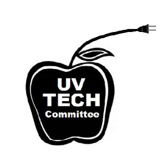 UV Tech Committee Logo featuring apple with cord