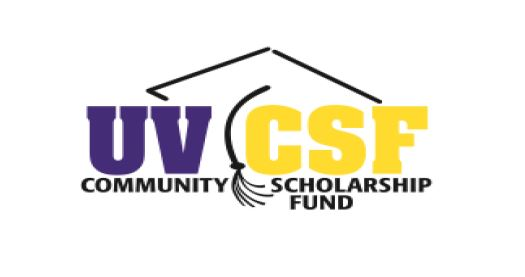 UV CSF logo with the words community scholarship fund