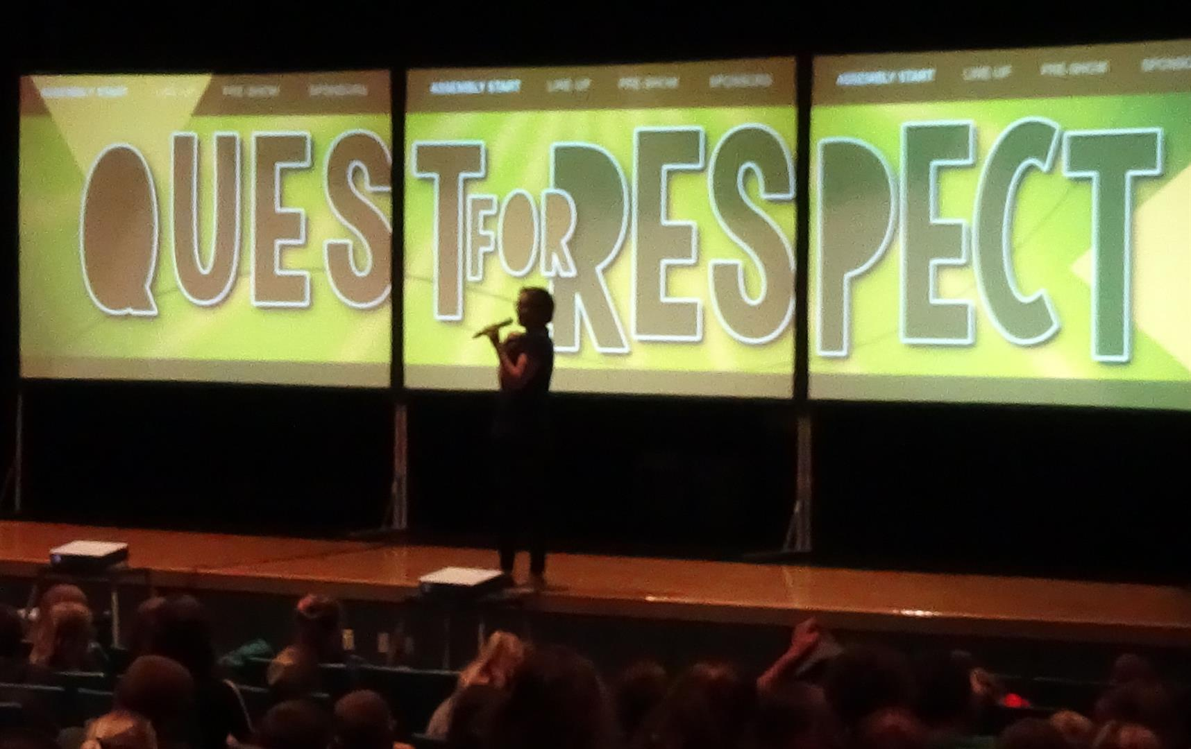 Ashlee Polarek speaks to UV students about respecting yoursel and others