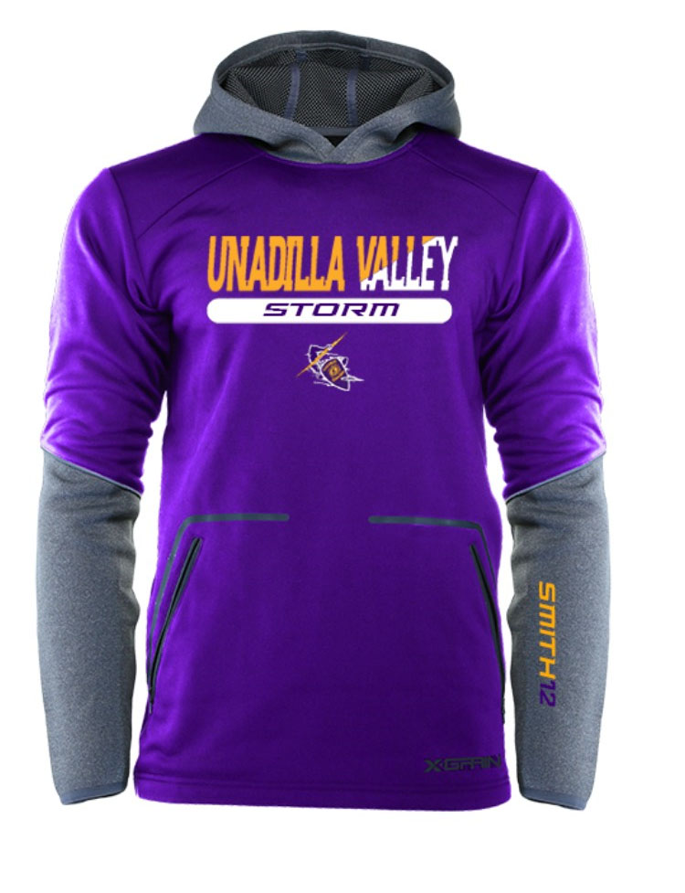 A sweatshirt with the UV logo
