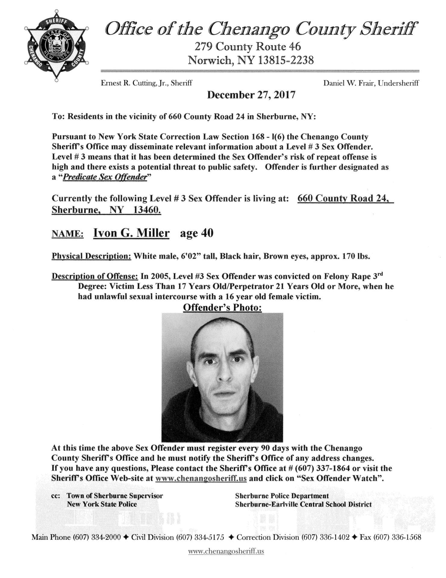 Sex Offender Miller
