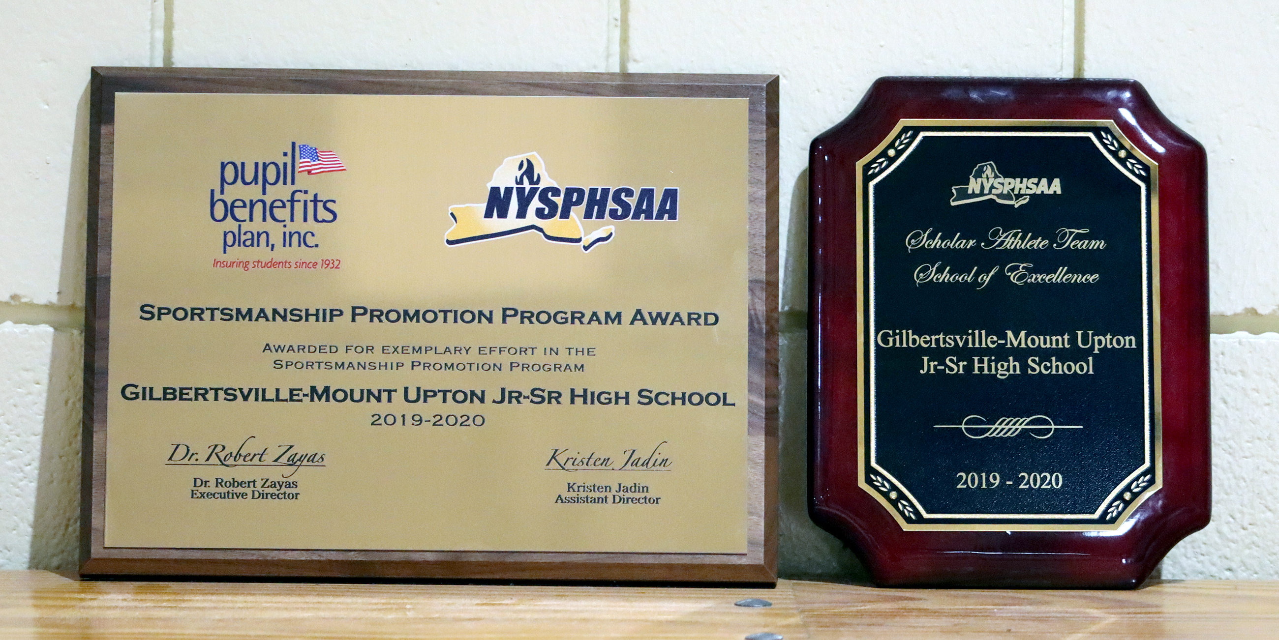 NYSPHSAA athletics awards plaques (6/2021)