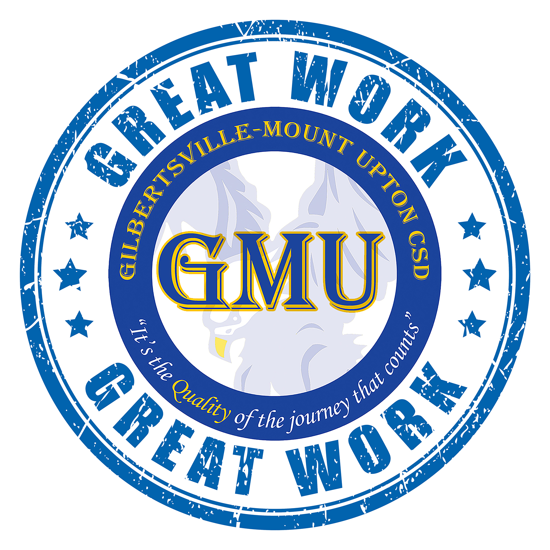 Great Work with GMU logo illustration (2/2021)
