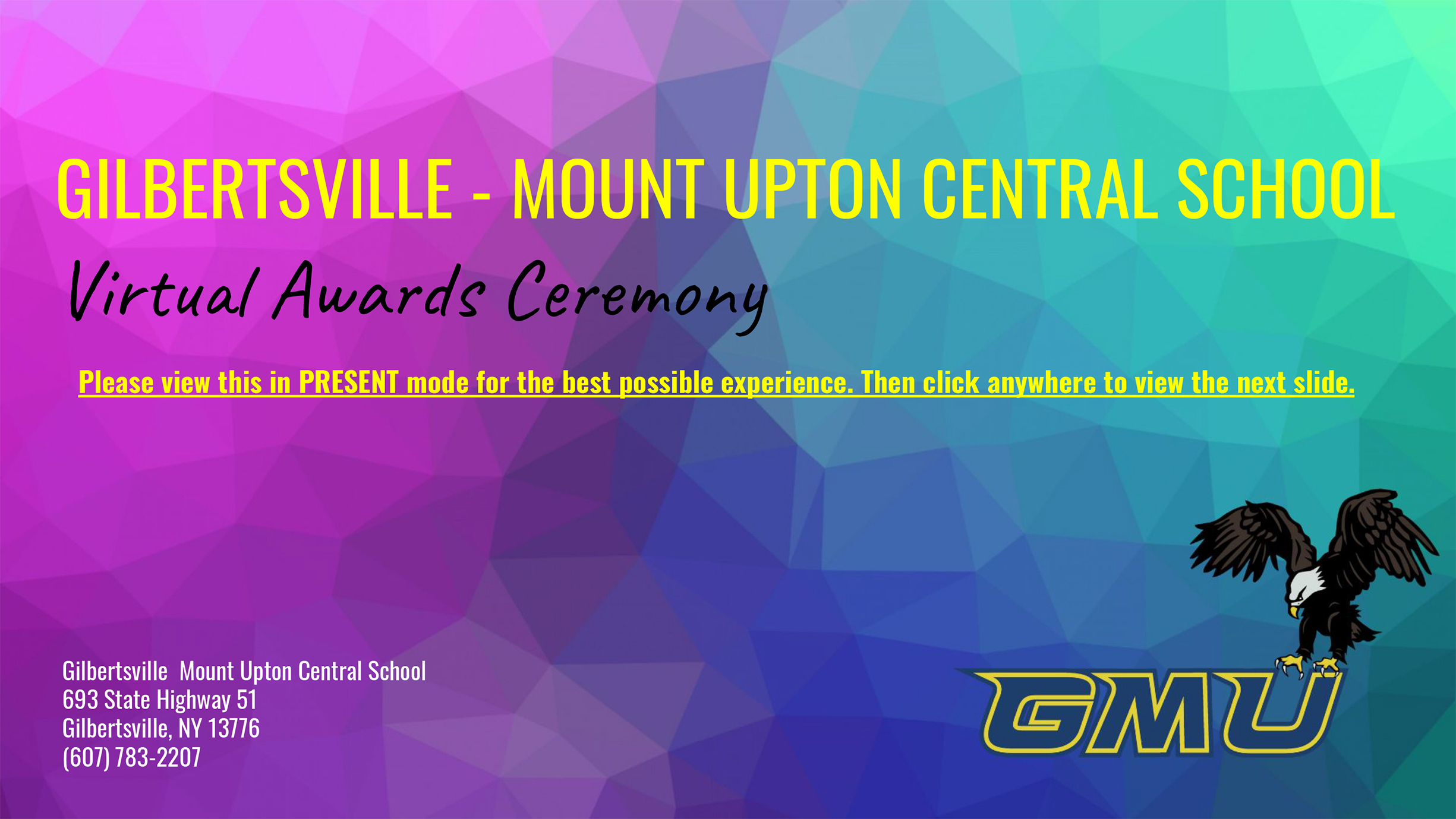 GMU Virtual Awards Ceremony illustration (12/2020)