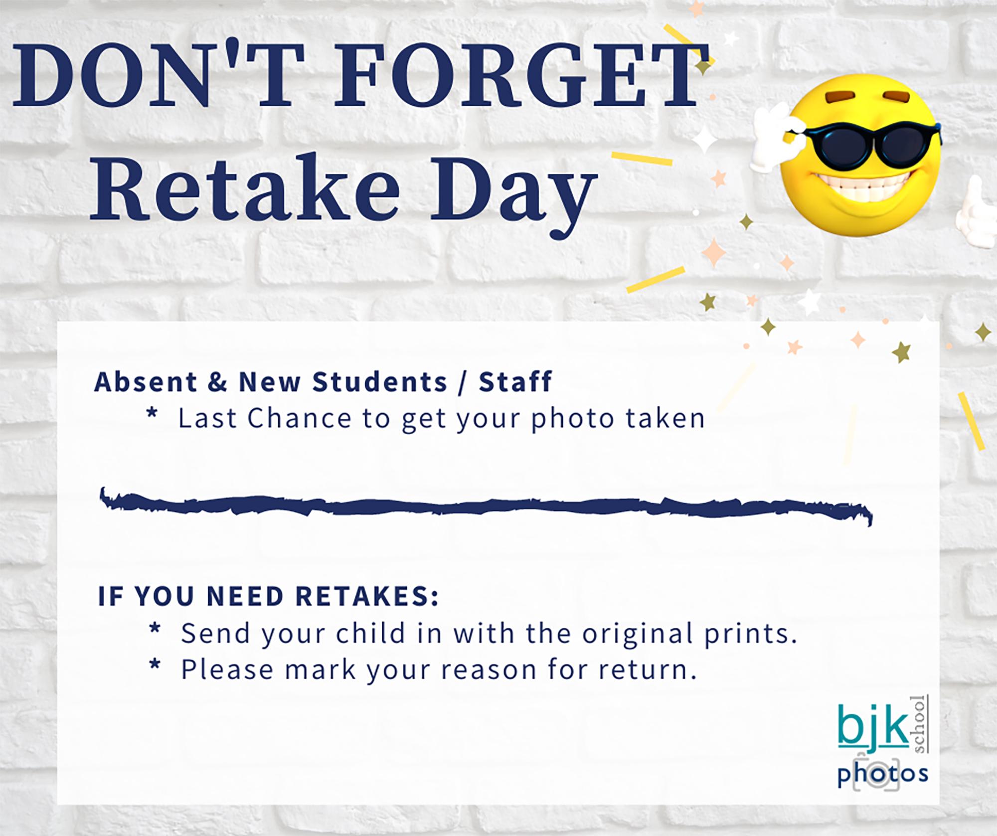 Don't Forget Retake Day illustration (10/2020)