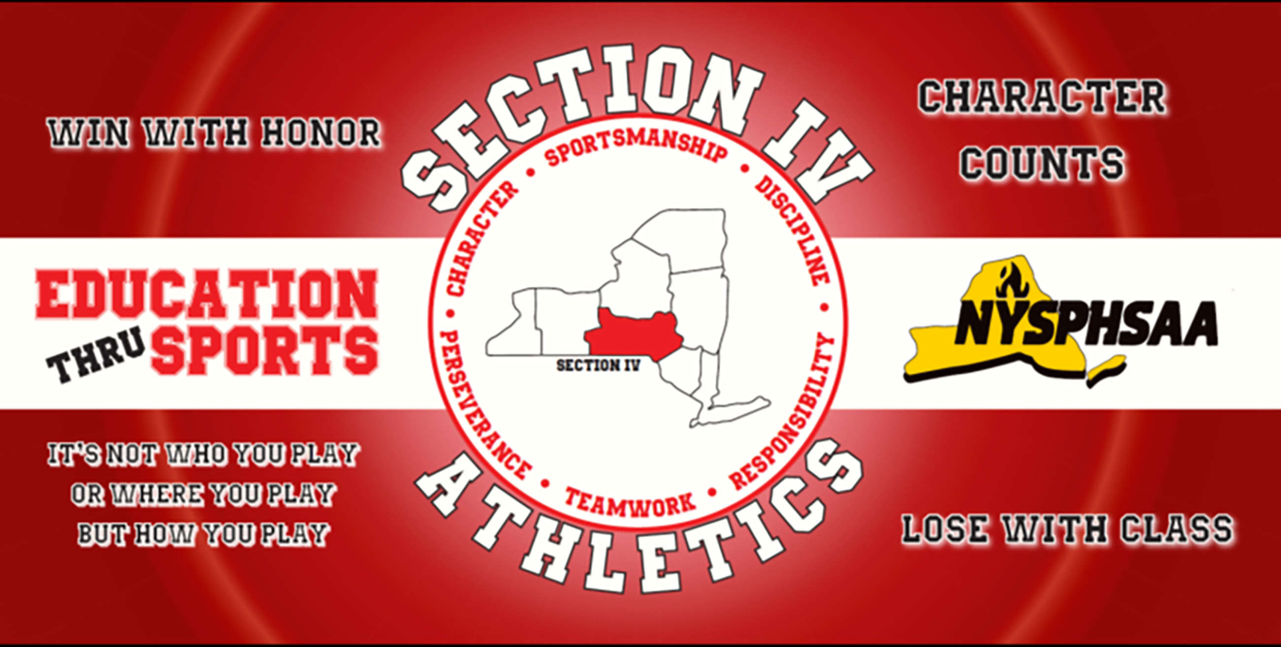 Section IV Athletics banner (9/2020)