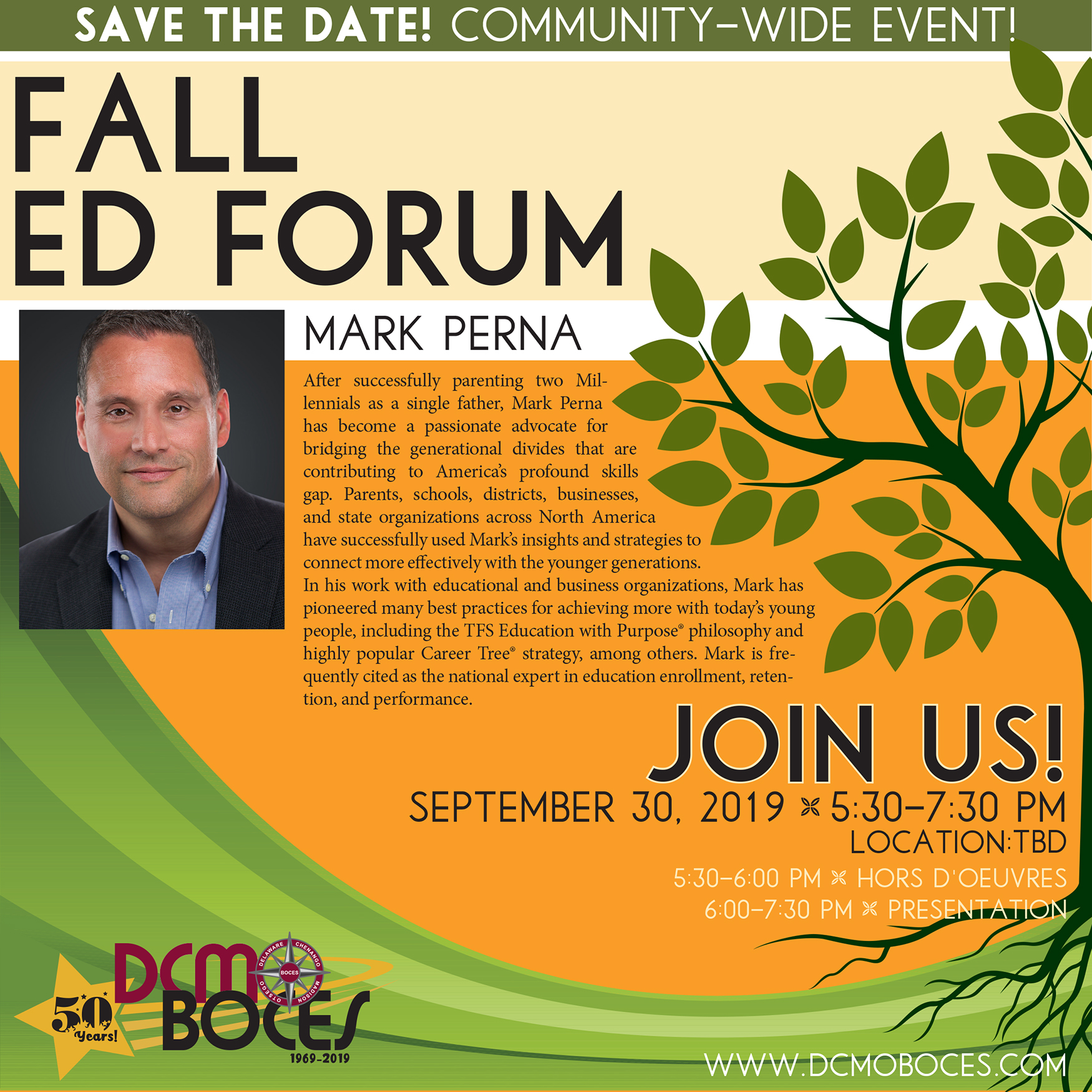 Fall Educational Forum Flyer 2019