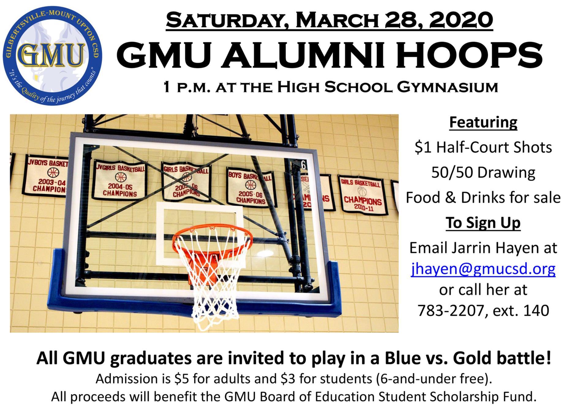 GMU Alumni Hoops Flyer 2020