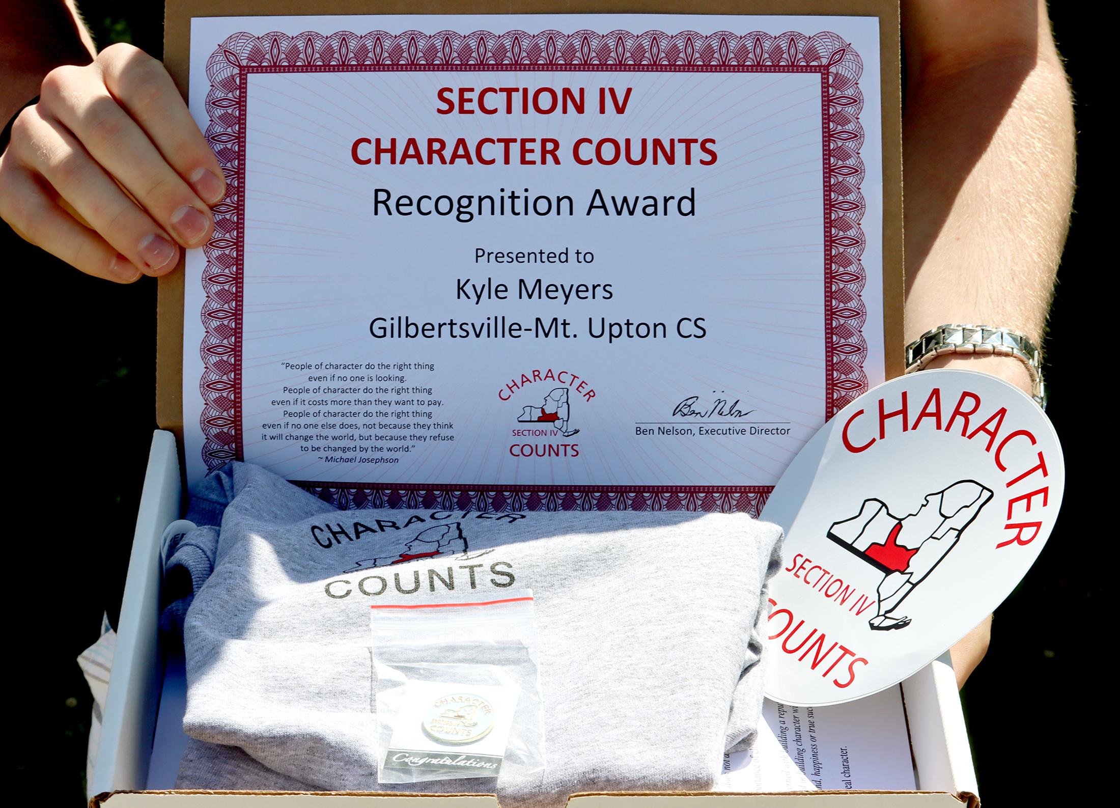 Section IV Character Counts award box (6/2021)