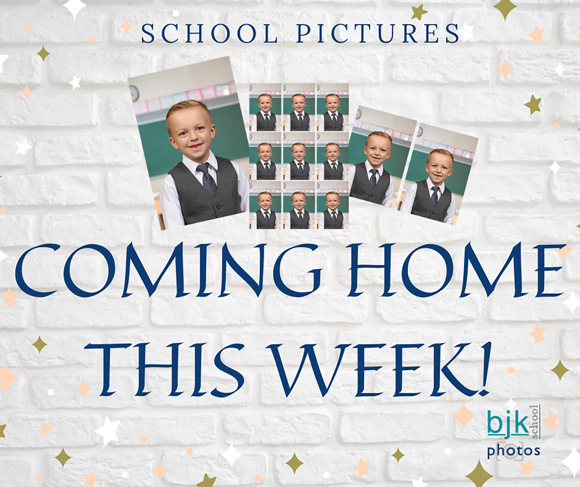 School Pictures Coming Home This Week! illustration (10/2020)