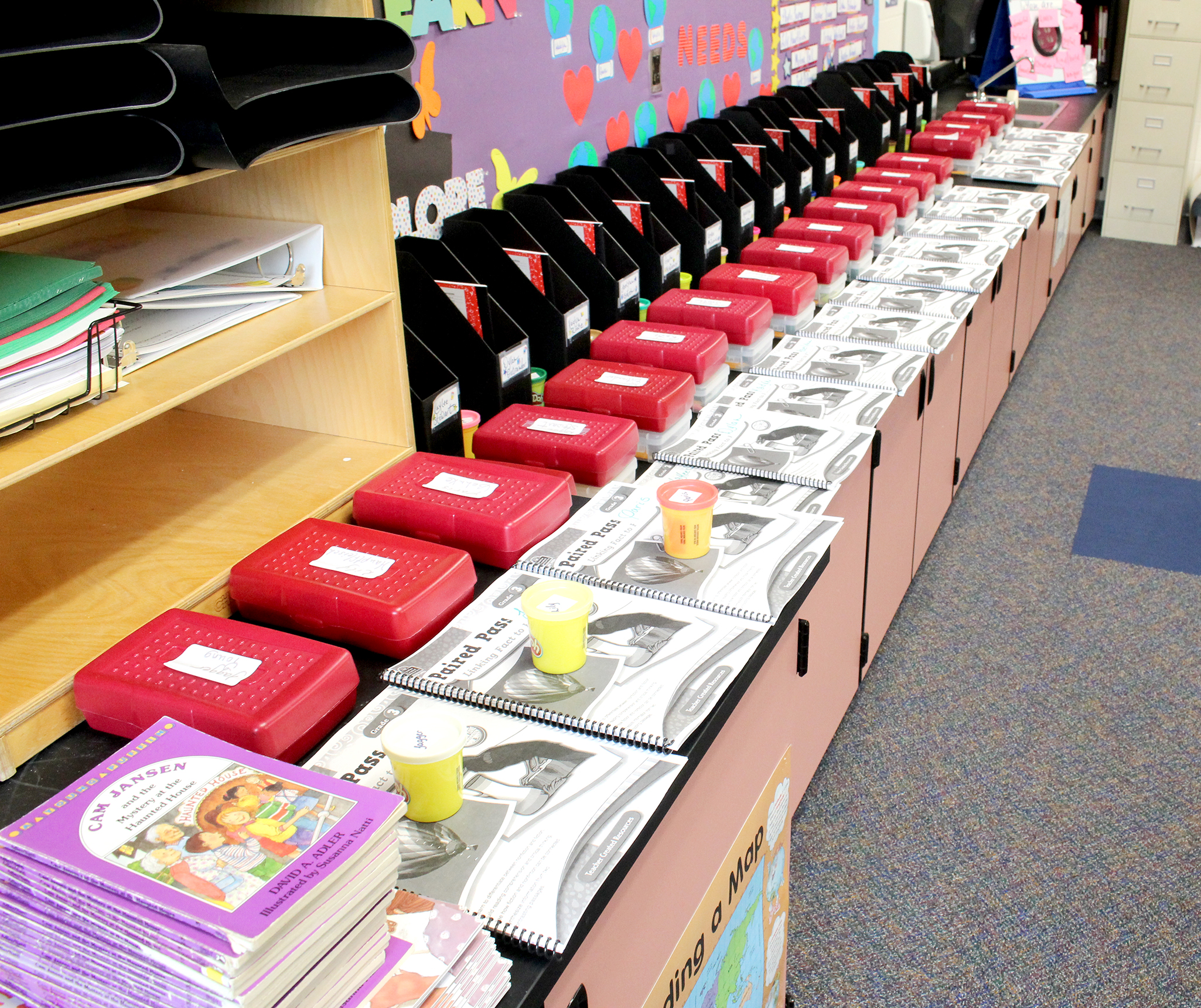 Student materials in classroom (9/2020)